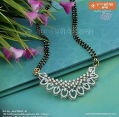Discover a wide range of Diamond Pendant or Tanmani at Waman Hari Pethe Sons. Gold Bangles Design, Gold Earrings Designs, Gold Jewellery Design, Diamond Jewellery, Necklace Designs, Diamond Mangalsutra, Gold Mangalsutra Designs, Bridal Jewelry, Beaded Jewelry