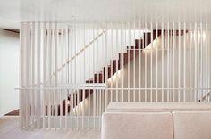 Open stair/handrail/basement
