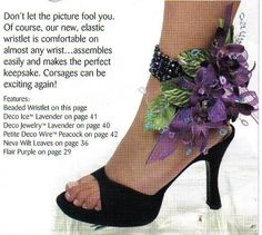 corsage  Who would have ever thought!?  An ANKLE corsage.  hm, this might be a cute idea.