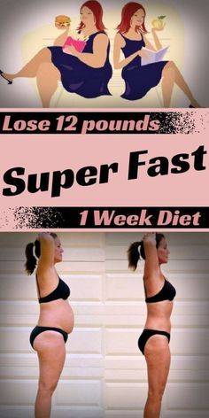 Lose 12 pounds super-fast in 1-week diet