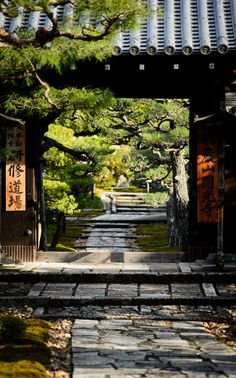 the entrance path to the Enkouji Temple (圓光寺), Kyoto Japan