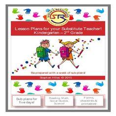 Lesson Plans for your Substitute Teacher! K-2