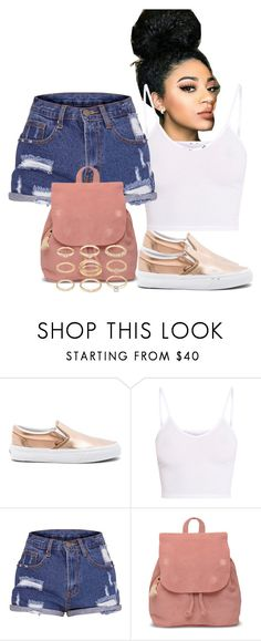 """Simple."" by frenchmamii ❤ liked on Polyvore featuring Vans, BasicGrey, TOMS and Forever 21"