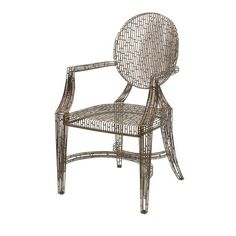 Imax 11017 Wilkins Handcrafted Metal Arm Chair #ImaxCorp