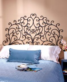 Etonnant Headboard Queen Or King Wall Mounted Metal Scroll Medallion Bedroom Decor  Light