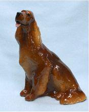 """Irish Setter dog figurine 5¼""""x3½""""x5¾"""" $56"""
