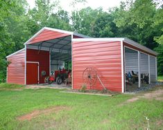 Metal Carport Barn Garage I have to admit, I love the look of barns. They are so elegant and functional at the same time. Would love to go camping by one of these barns, and even have the gear to do so after reading the reviews from http://www.todayscampinggear.com