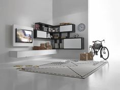 Amazing Wall Storage Items For Your Contemporary Living Room - Floating wall storage is a mixture of sensible storage and residential décor vogue the place the storage unit is mounted to the wall and is used to handle CDs and DVDs. Modern Outdoor Furniture, Italian Furniture, Contemporary Furniture, Support Mural Tv, Support Tv, Wall Unit Designs, Modern Wall Units, Tv Wall Decor, Wall Storage