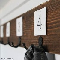 Fence Picket Coat Rack by The Wood Grain Cottage