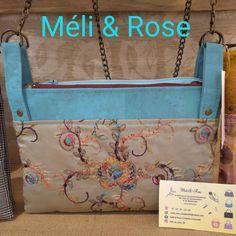 Méli & Rose Création Artisanal sur Instagram: Un Chacha en liège et soie brodée le petit sac bandoulière pratique double pochette modèle sacotin dispo a la boutique des #les_creactif_66…
