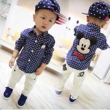2015 primavera e autunno nuovo bambino bambino coreano little cartoon ragazzi camicie a maniche lunghe(China (Mainland))