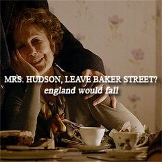 Probably my favorite moment of the entire show. He loves Mrs. Hudson :)