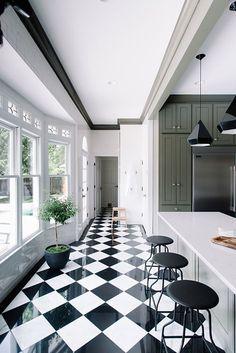 Gwen The Makerista Kitchen black and white tiles