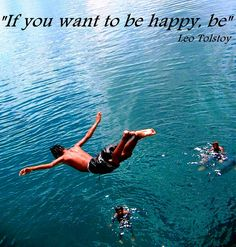 If you want to be happy, be. - Leo Tolstoy http://www.JenThoden.com