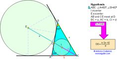 Geometry Problem 40. Triangle, Incenter, Excenter, Angle Bisector, Similarity, Metric relations. Level: High School, College, Math Education.