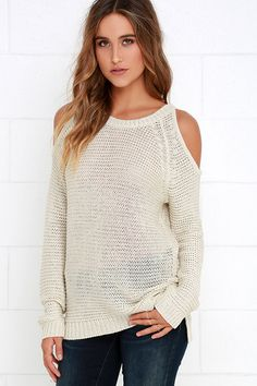 Sweet Serendipity Beige Sweater Top at Lulus.com!
