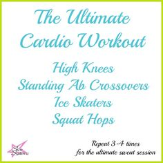 The Ultimate Cardio Workout with Video #workout #cardio  Workout by Certified Personal Trainer Courtney Bentley of Star Systemz Fitness Blog