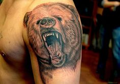 Roaring Bear Tattoo