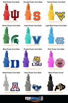 Color Power Cord Sale - Match your data center power cords with your favorite team colors for March Madness!