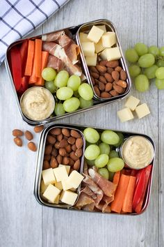 Healthy Work Lunch Ideas - Charcuterie Bistro Boxes Charcuterie Bistro Boxes High in protein and simple to prepare, these Charcuterie Bistro Boxes are a quick and easy meal prep idea that involves absolutely no cooking at all! Healthy Lunches For Work, Prepped Lunches, Snacks For Work, Lunch Snacks, Healthy Snacks, Healthy Recipes, Healthy Kids, Lunch Kids, Snack Box