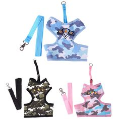 Pet Products Camouflage Dog Leash Harness Puppy Cat Dog Harness for Dogs Large Small Pets Chest Strap S/M/L Size  #silver #jewelry #animal