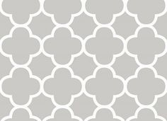 Moroccan Ogee In Grey From Wallquests Simplicity Screen Printed