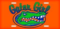 Gator Girl on orange license-plate-licence-tag. :) Wish it were mirrored though! Florida Gators, Florida Athletics, Cool Stickers, Football Season, Girl Quotes, Beautiful Words, Disney Characters, Image, Random Stuff