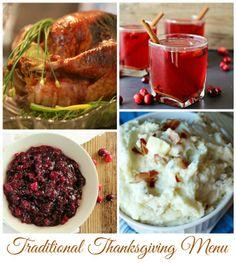 Traditional Thanksgiving Menu Ideas - WonkyWonderful.com