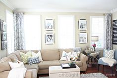 Living Room Update: Semi-Custom Drapes - A Thoughtful Place
