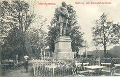 Historische Aufnahme vom Bismarckdenkmal auf der Harburg.