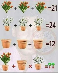 Picture Puzzles Brain Teasers, Brain Teasers Pictures, Brain Teasers With Answers, Brain Teasers For Kids, Riddles With Answers, Easy Logic Puzzles, Logic Math, Math Problem Solving, Maths Puzzles