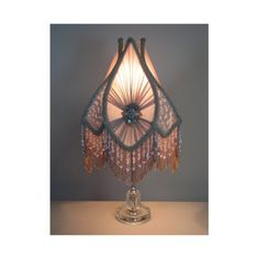 Vintage victorian style ornate hanging lamp light fixture vintage table lamp with victorian lamp shade the twenties in parie 0407 via etsy mozeypictures Gallery
