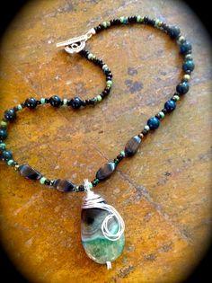 Natural Gemstone and Sterling Silver by EllendaleMtnDesigns, $78.00