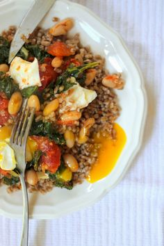 Jenessa's Dinners: Moroccan Braised Kale over Wheatberries #vegetarian