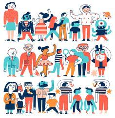 Fondation Louis Vuitton on Behance Fondation Louis Vuitton, Kids Graphic Design, Graphic Design Inspiration, Hand Illustration, Children's Book Illustration, Chinese New Year Design, Kids Activity Books, Mural Wall Art, Behance
