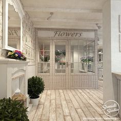 Flower Shop Interiors, Flower Shop Design, Room Organization, I Shop, House Design, Studio, Outdoor Decor, Flowers, Projects