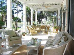 Love this extra large porch!   House Plans - Home Plan Details : Porches Galore