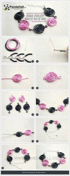 Jewelry Making Tutorial--DIY Wire Wrapped Bracelet
