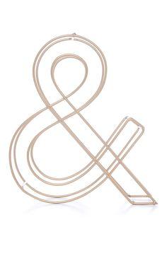 Et-Zeichen aus Metall