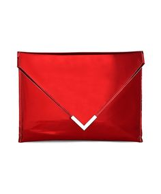 Metallic Pointed Clutch Bag $38.17