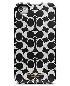 COACH SIGNATURE IPHONE 4 CASE - Tech Cases & Accessories - Handbags & Accessories - Macy's