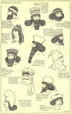 Ancient median and persian hairstyles
