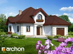 Dom w kobeach Home Fashion, Old Houses, My Dream Home, Gazebo, House Plans, New Homes, Outdoor Structures, Cabin, Mansions