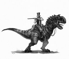 The gambler and the Majungasaurus... as one of the most wanted outlaws, he ain't afraid of no one.