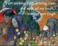 Here's some #ArtInspiration from #VincentvanGogh