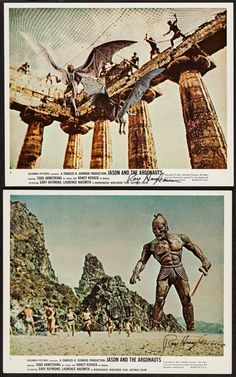 Jason and the Argonauts (Columbia, Autographed Color Photos X Fantasy. Vintage - Available at Sunday Internet Movie Poster. Sunday Movies, Good Movies, Fantasy Movies, Sci Fi Fantasy, Scary Films, Horror Movies, Classic Sci Fi Movies, Jason And The Argonauts, Sci Fi Tv Series