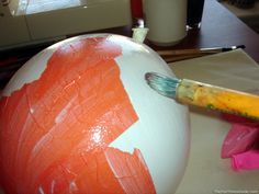 Halloween Crafts   Easy Halloween Crafts & Decorations: Make Paper Mache Pumpkins - The ...