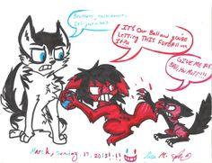 cute creepypasta | Creepypasta Triplets: Playtime? by ModernLisart