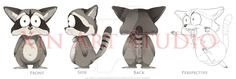 raccoon_model_sheet_by_xin_art_studio-d73522z.jpg (900×303)