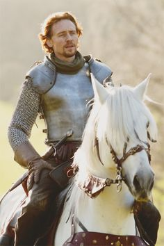 Tom Hiddleston on the white horse from The Hollow Crown.